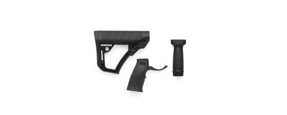 Buttstock, Pistol Grip, & Vertical Foregrip Combo - Black