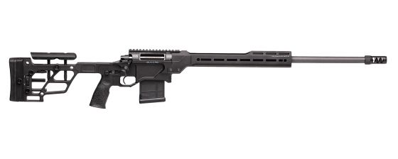 DELTA 5 PRO Bolt-Action Rifle with 24-inch Barrel, Chambered in 6.5 Creedmoor. Black Finish, Right Profile