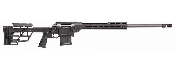 DELTA 5 PRO Bolt-Action Rifle with 26-inch Barrel, Chambered in 6mm Creedmoor. Black Finish, Right Profile