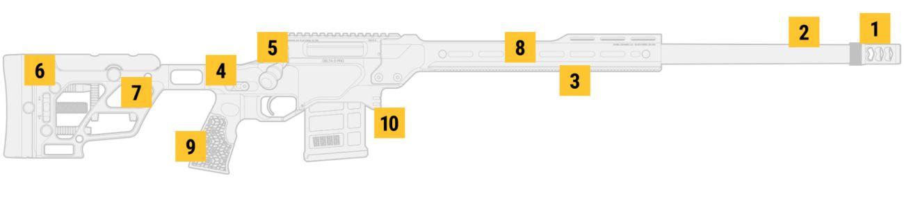 "DELTA 5® PRO, 26"", 6mm Creedmoor, Varmint"