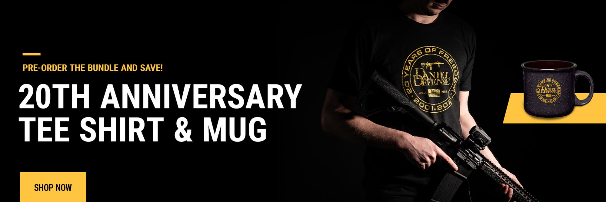Pre-order the 20th anniversary tee shirt & mug bundle