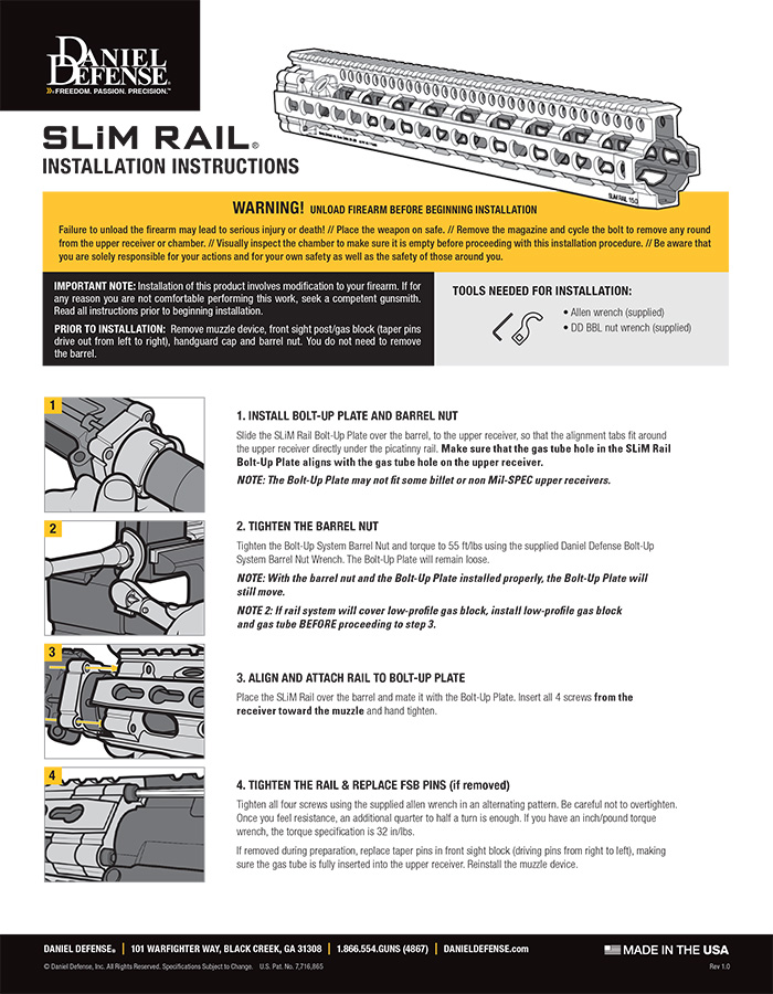 SLIM Rail Installation Instructions