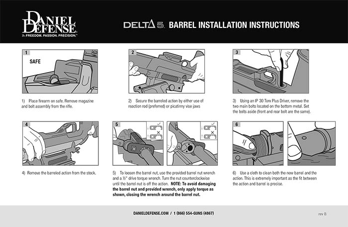 Delta 5 Barrel Installation Instructions