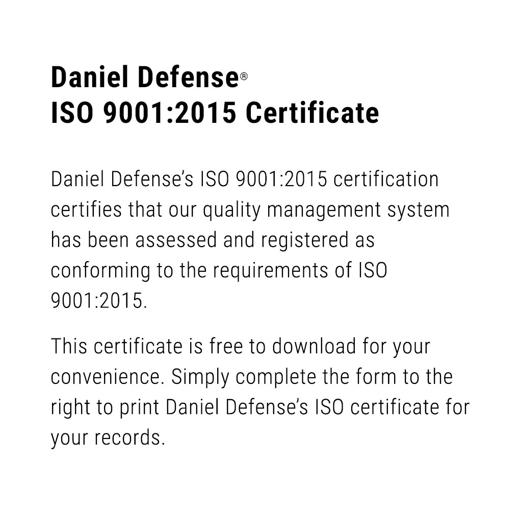 Daniel Defense ISO 9001:2015